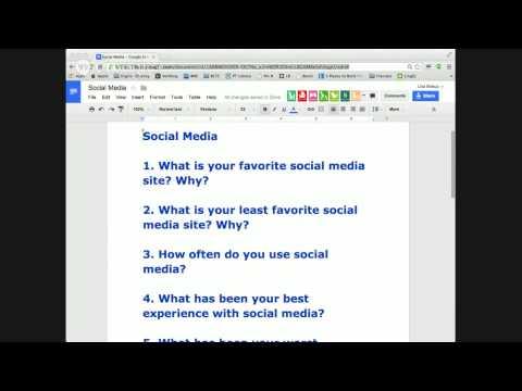 English Conversation Class: Social Media