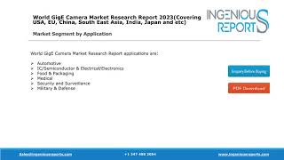 Global GigE Camera Market Research Report Analysis and Overview to 2023