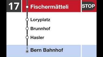 Bernmobil Ansagen - ElectroBus Linie 17 - Weiermatt-Bern Bahnhof