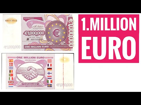 1 Million Euro Note - 1000000 Euro!!!! - The European Dream Note