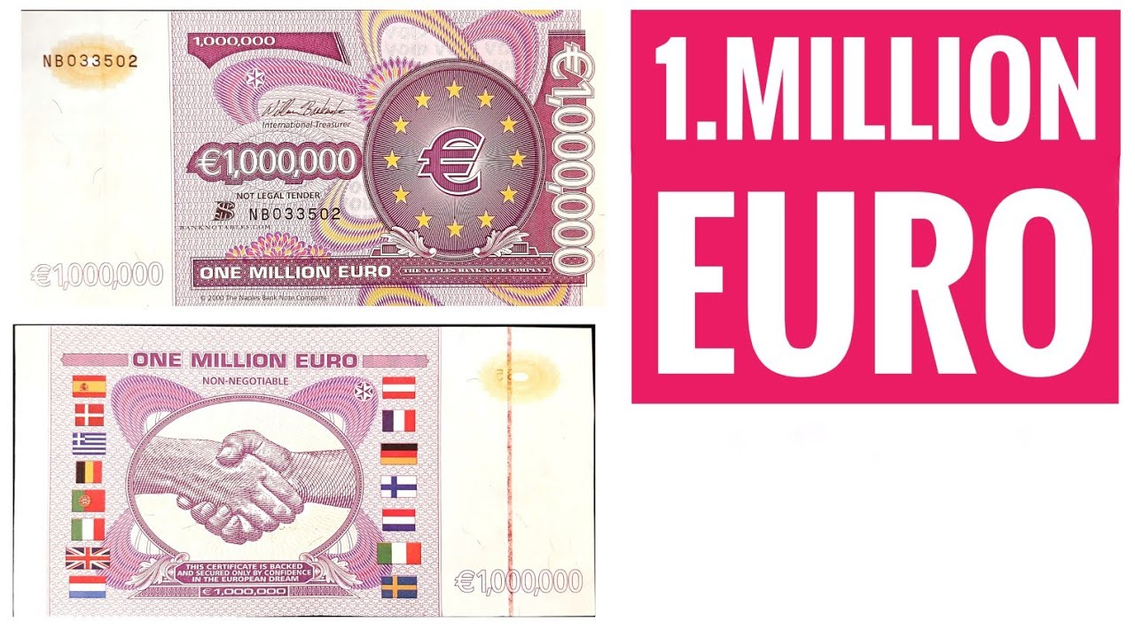 1 Million Euro Note - 1000000 Euro!!!! - The European dream note