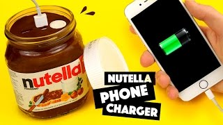 DIY | NUTELLA PHONE CHARGER - Tutorial!(Open me and watch me in HD! Can we reach 10k likes? :D Hello guys! Today's video is an amazing collaboration with the fantastic HelloMaphie! She's an ..., 2016-02-11T18:00:02.000Z)