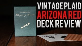 Deck Review - Vintage Plaid Playing Cards Arizona Red
