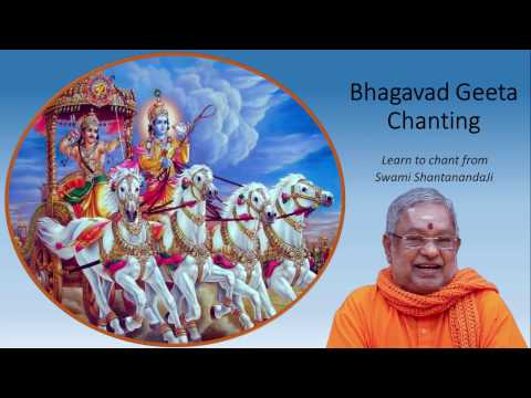 Geeta Chanting Chapter 17 - Swami Shantanandaji - Chinmaya Vrindavan