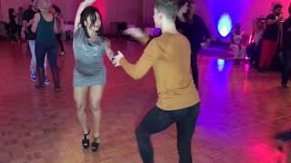 JESSICA QUILES & DIONEY DA SILVA  SALSA DANCE  AT PRE PARTY  SEATTLE SALSA CONGRESS 2017