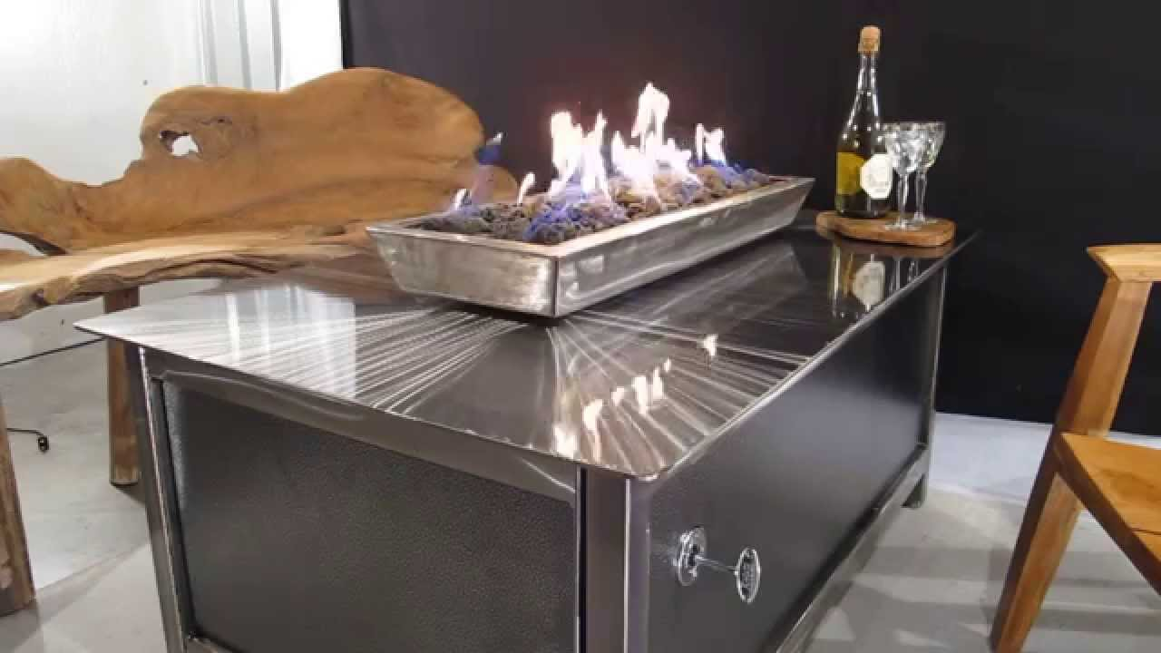 IMPACT Fire Table   Burn Propane Or Natural Gas, Rectangular Modern  Industrial Design