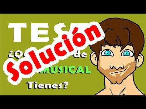 TEST OÍDO MUSICAL: SOLUCIÓN (Respuestas)