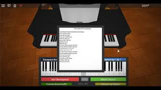 ROBLOX Piano The Pirates Of The Caribbean