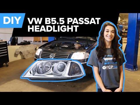 VW Passat B5.5 Headlight Replacement – DIY Quick (1.8, V6, W8)