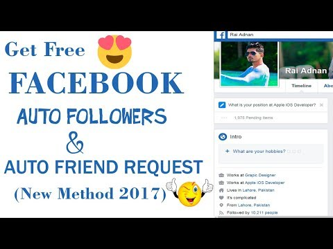 How to Get Facebook Auto Followers & Unlimited Auto Friend Request 2017 with Proof  100% Working