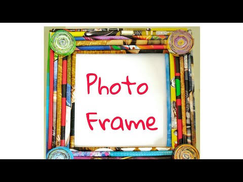 How to make photo frame from newspaper best newspaper craft ever