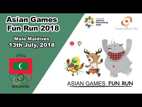 2018 Asian Games Fun Run Ends In Male Rasfannu Beach