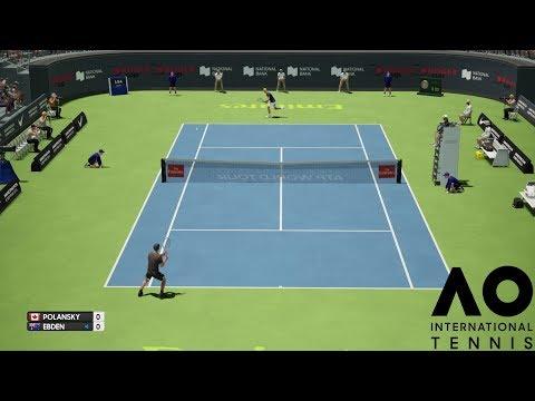 Peter Polansky vs Matthew Ebden - AO International Tennis - PS4 Gameplay