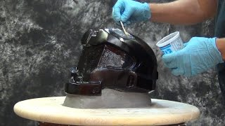 Helmet Mold Tutorial: Gel-25 1 Piece Mold Halo Helmet