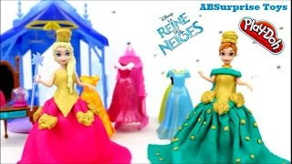 Robe Reine des neiges Princess Anna en pate a modeler playdoh | playdoh dress frozen elsa anna
