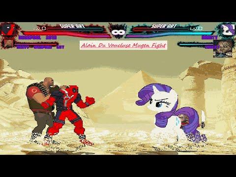 Mugen : Deadpool U0026 Heavy Vs Rarity U0026 Chucky (Request)