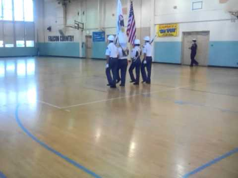 Madero Middle School Color Guard Competition 2016