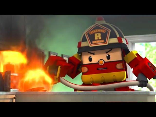 Робокар Поли Новые серии - Рой и пожарная безопасность - мультики про пожарные машины