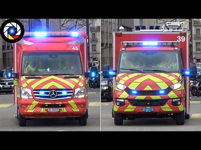 NOUVEAUX Véhicules Pompiers Genève // NEW Vehicles Geneva Fire Dept.