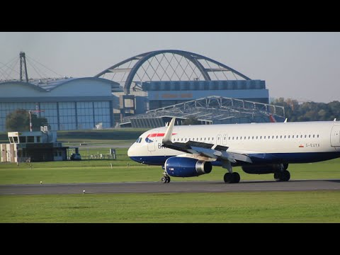 [FullHD] British Airways A320-200SL landing @ Hamburg-Airport