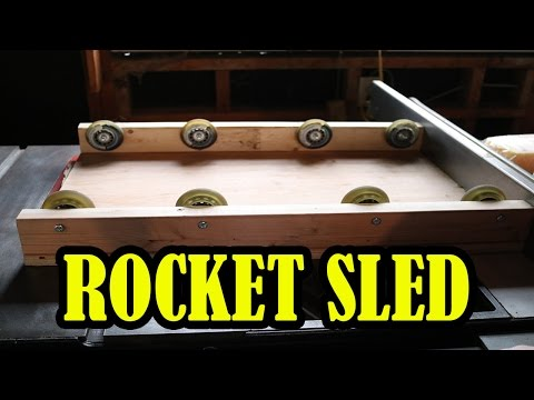 How to Build a Low Friction Rocket Sled for Science Experiments | BiteSizedEDU