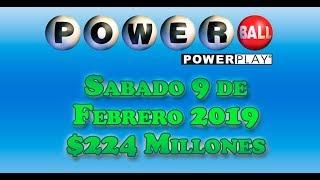 Gambar cover Resultados Powerball 9 de Febrero 2019 $224 Millones de dolares Powerball en Español