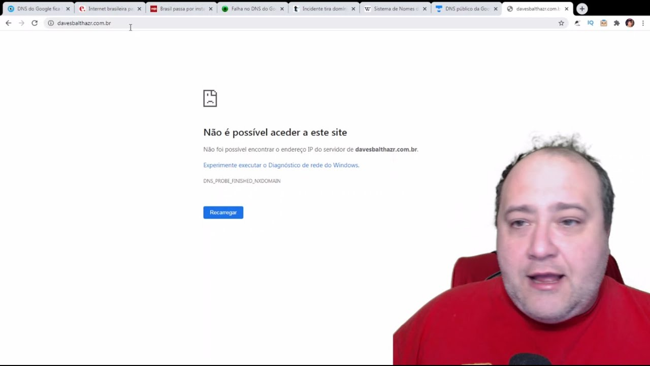 DNS DO GOOGLE FICA FORA? GRANDES SITES FICAM FORA DO AR REGISTRO.BR OU DNS DO GOOGLE?