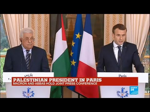 REPLAY - French president Macron, Palestinian leader Abbas hold joint press conference