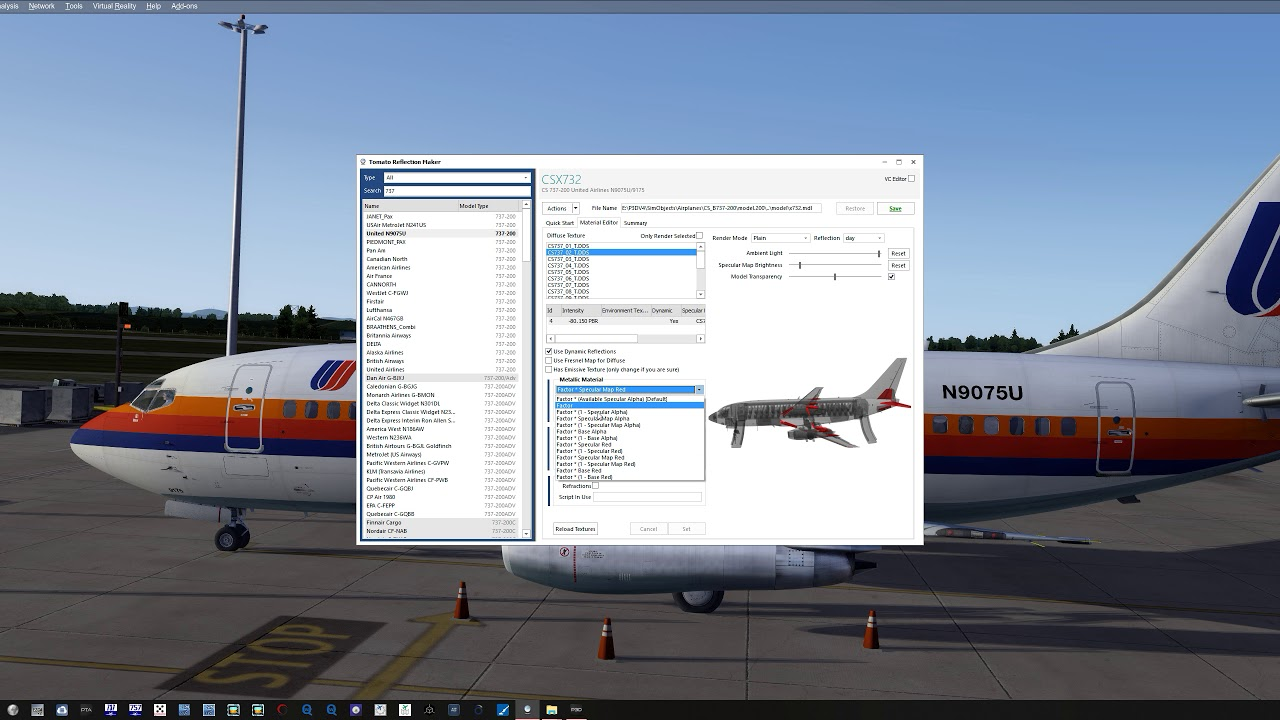 P3D V4 4, Reflection Profile Tutorial for Beginners, Tomato Shade