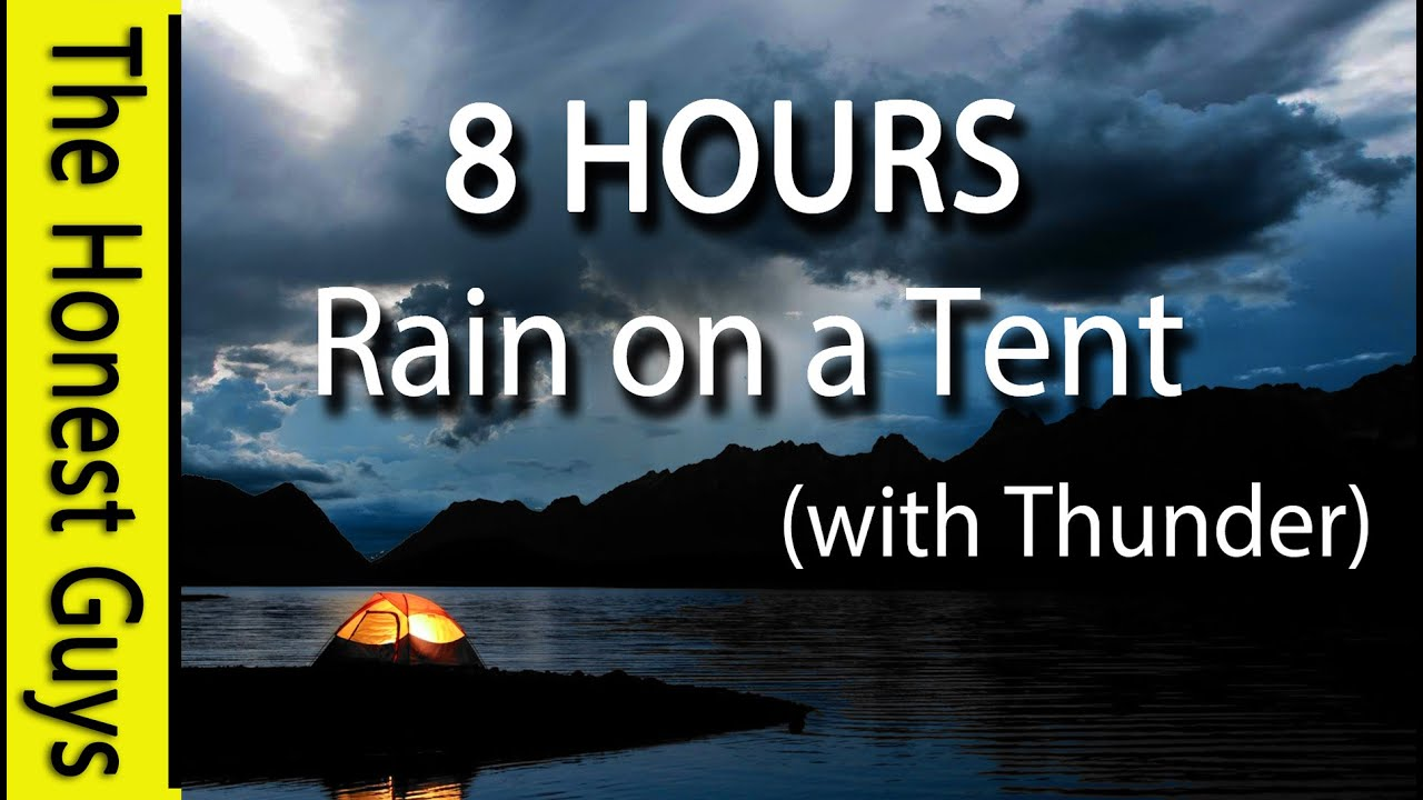 8 HOURS - Relaxing Nature Sounds  Rain on Tent Roof - Sleep - Insomnia -  Meditation