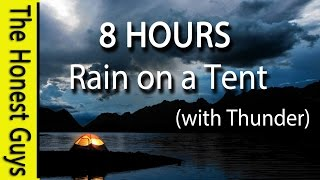8 HOURS - Relaxing Rain on Tent Roof - Sleep - Insomnia - Meditation