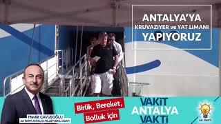Antalya'ya Kruvaziyer ve Yat Limanı Yapıyoruz