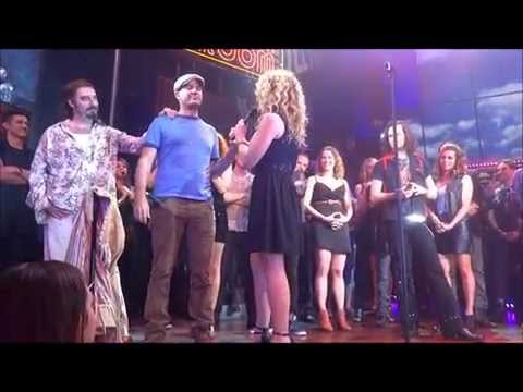 Rock of Ages Broadway Final Curtain Call & all speeches 1/18/15