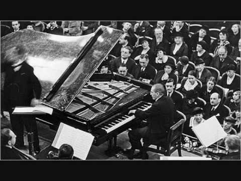Paul Wittgenstein plays Ravel - Piano Concerto for the Left Hand (1/2)