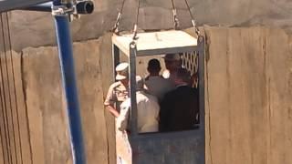 هانى عبد الرحمن واللواء كامل الوزير فى الطريق الى أعمق بئر فى العالم أسفل قناة السويس الجديدة