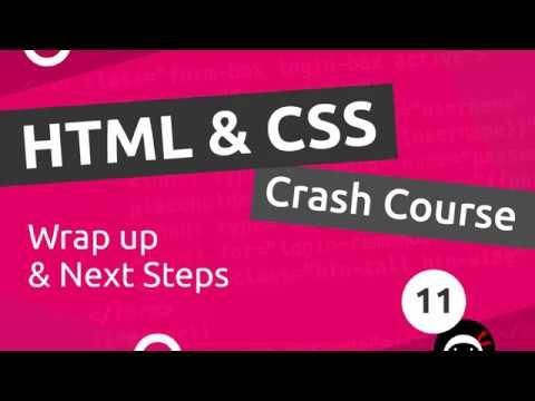 HTML & CSS Crash Course Tutorial #11 - Next Steps