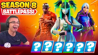 Nick Eh 30 reącts to SEASON 8 Intro and Battle Pass!