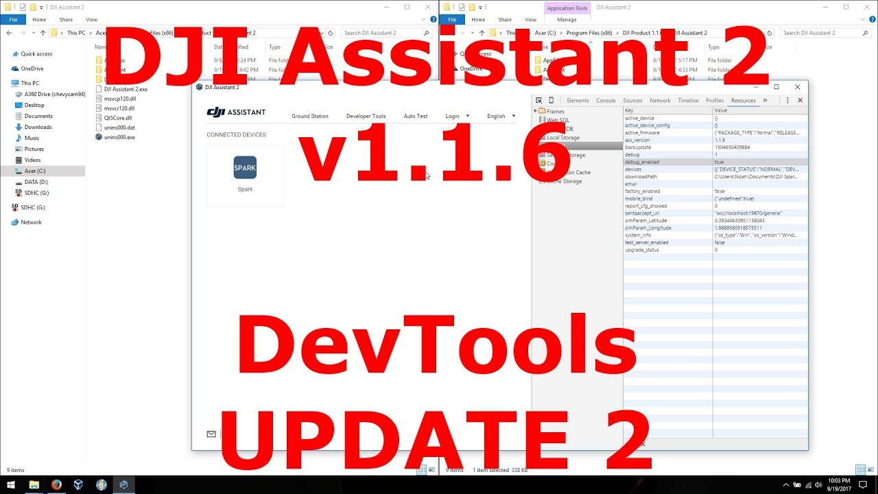 DJI Assistant v1 1 6 - Enable DevTools (UPDATE 2)