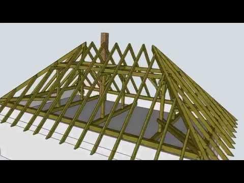 Krov  model v SketchUp