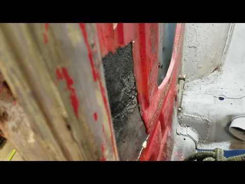 Another way to pull dent out of VW Bug quarter panel