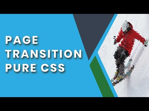 Pure CSS Page Transition Effect | Page Transition css