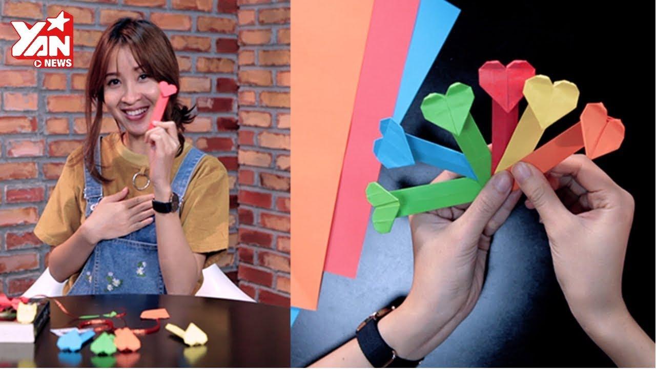 Mẹo Hay 180 || Tự làm bookmark kẹp sách xinh xắn bằng gấp giấy Origami