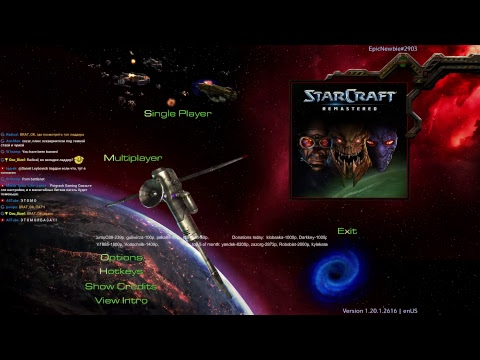 Starcraft Remastered BratOK+Dimaga 2x2! Showmatch 1x1! Ladder 1x1.