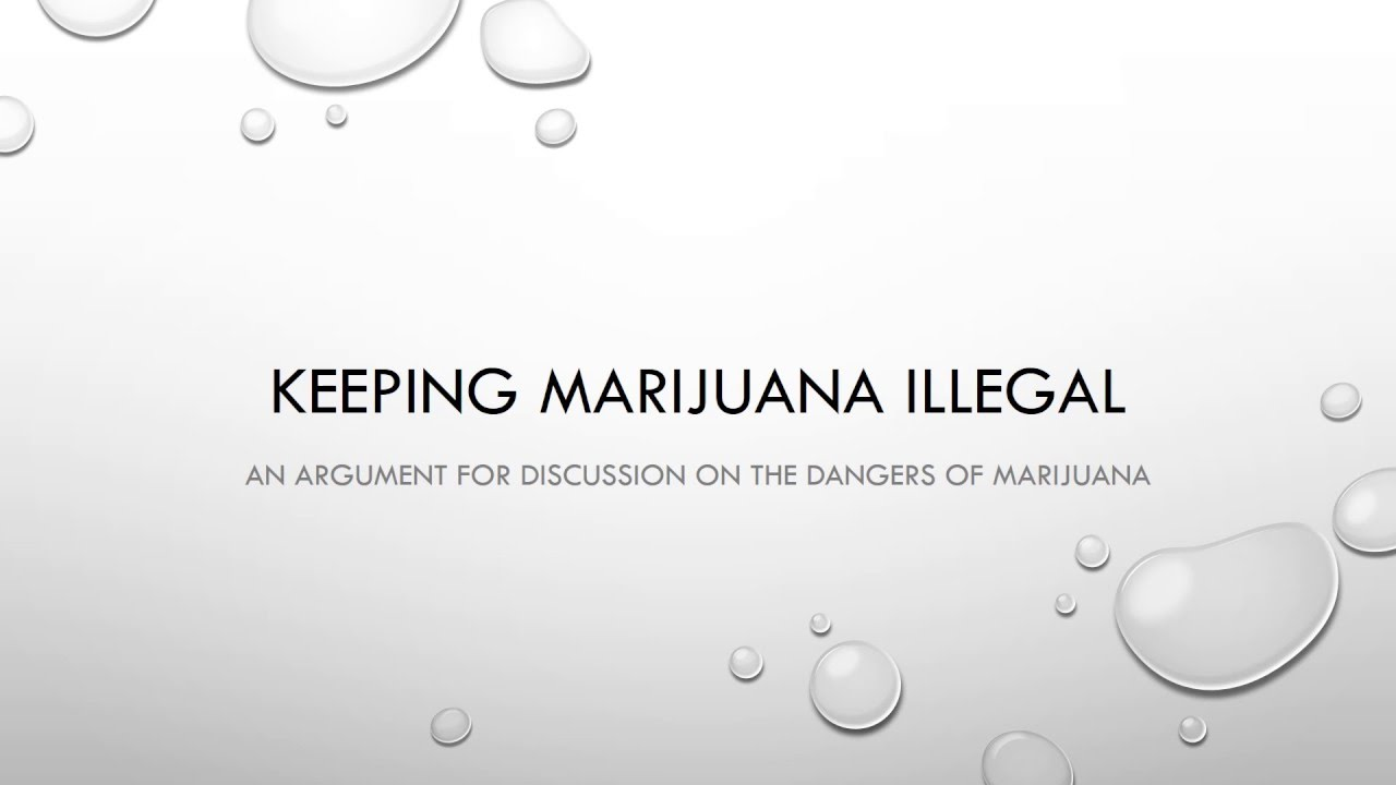 thesis statement for legalizing marijuana
