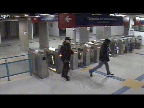 Polícia busca identificar dupla que fez arrastão no trem