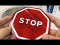 PARKEZ Flashing LED Light Parking Stop Sign For Garage review