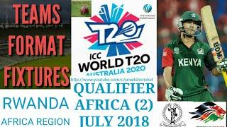 ICC World T20 Qualifier 2018 East Africa Rwanda Format Teams | ICC WT20 2018 Schedule Venue English