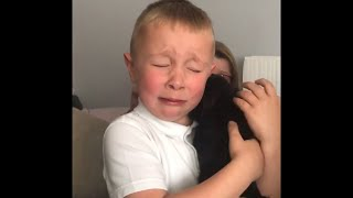 Bullied Little Boy Gets Puppy as a Surprise After School - 1043517