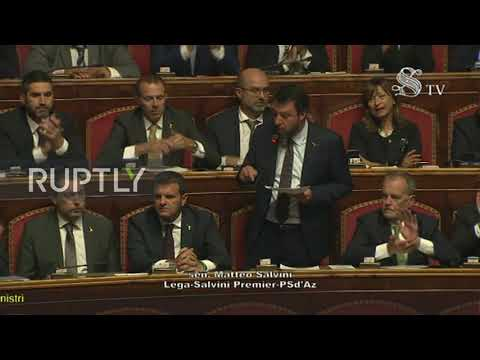 Italy: Salvini calls Conte's govt 'product of betrayal' ahead of 2nd confidence vote