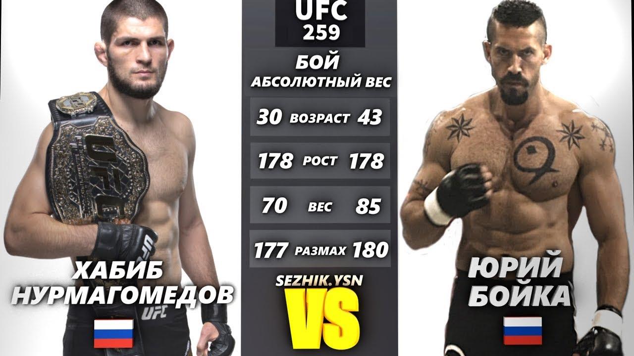 UFC БОЙ Хабиб Нурмагомедов vs Юрий Бойка РЕВАНШ (com.vs com.)